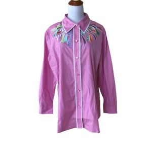 Vintage 1990s Bob Mackie embroidered button down